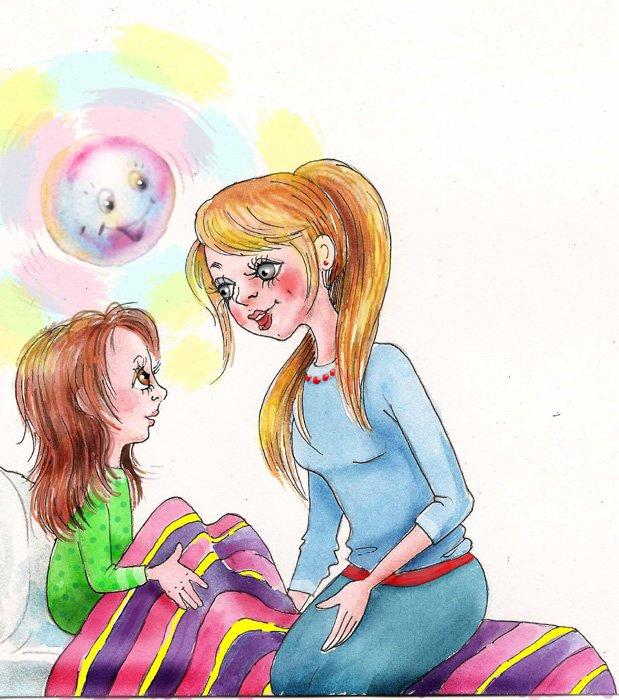 Смешные рисунки про маму и дочку, картинки летием